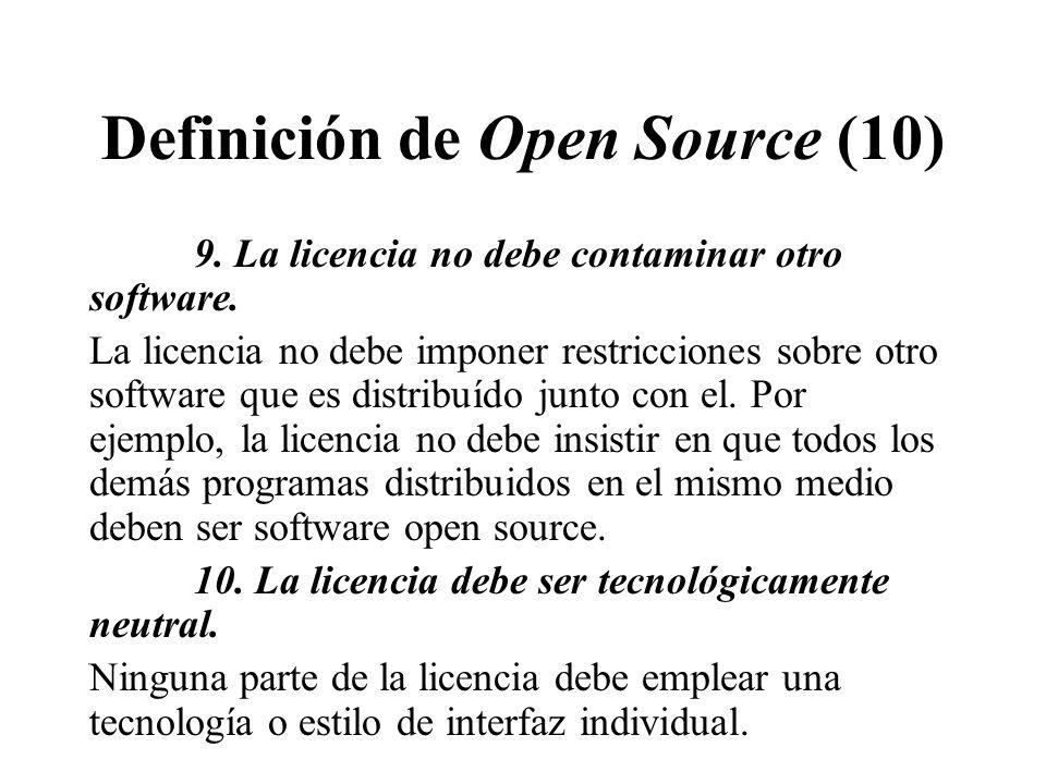 Definición de Open Source (10)