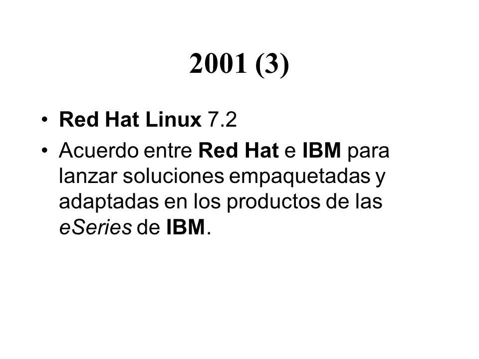 2001 (3) Red Hat Linux 7.2.