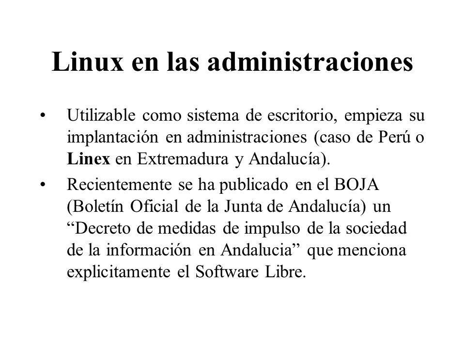 Linux en las administraciones