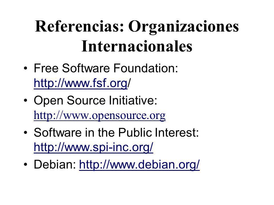 Referencias: Organizaciones Internacionales