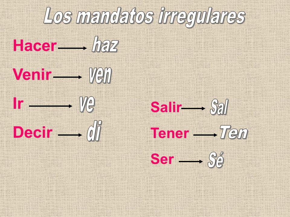 Los mandatos irregulares