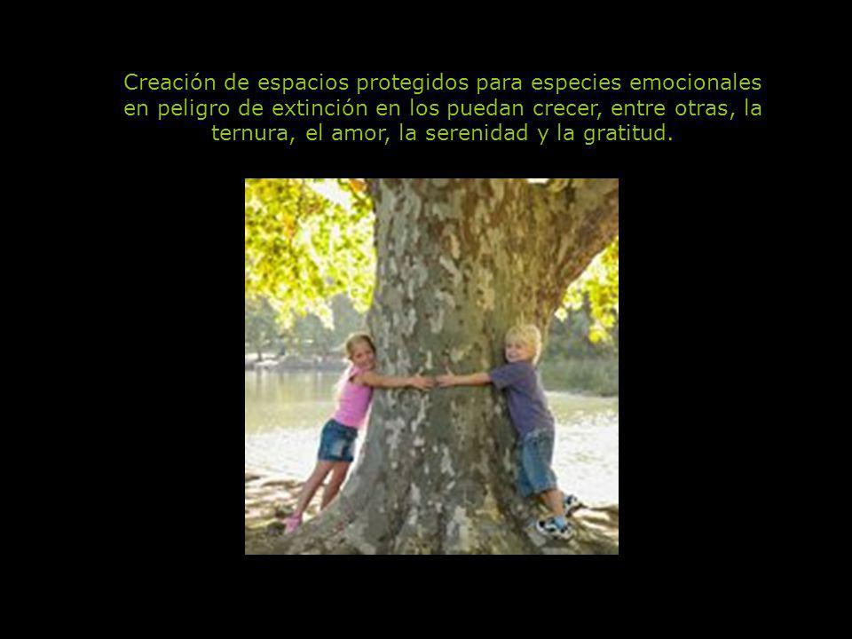 Creación de espacios protegidos para especies emocionales