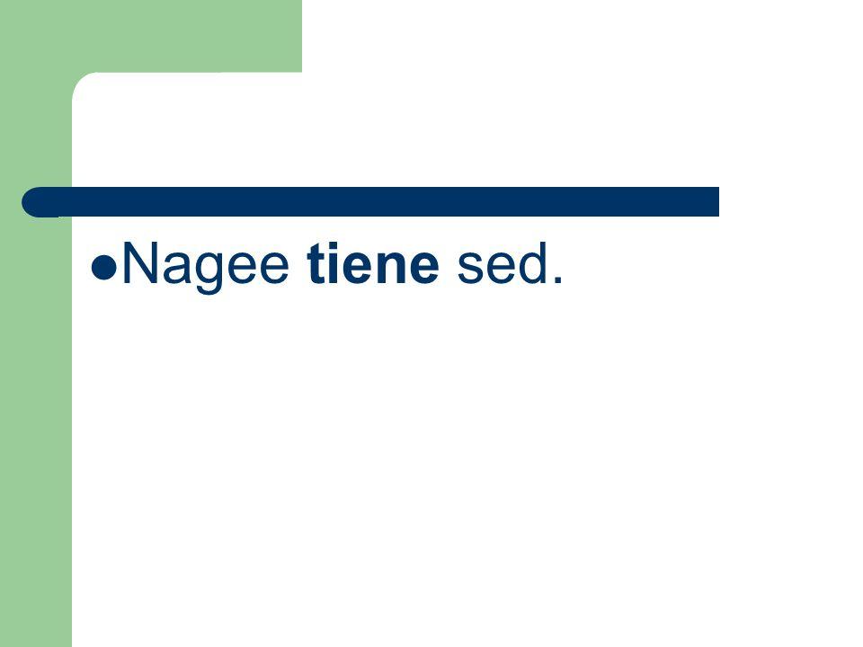 Nagee tiene sed.