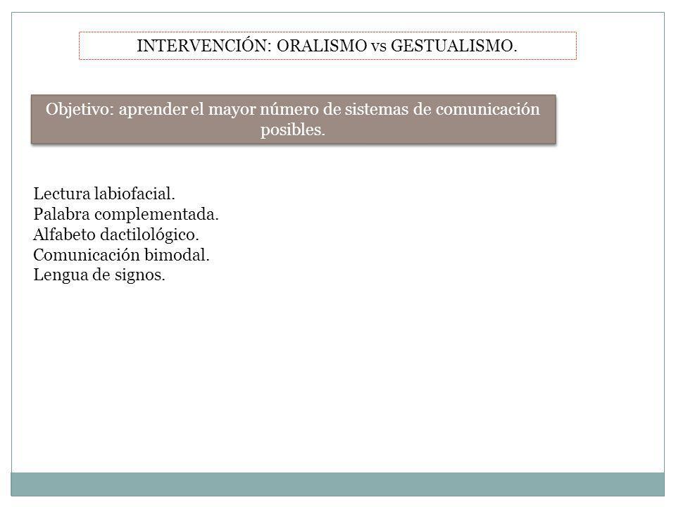 INTERVENCIÓN: ORALISMO vs GESTUALISMO.