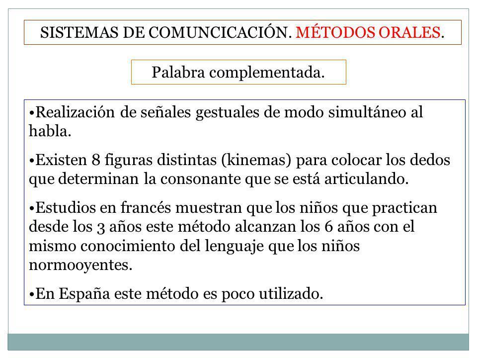 SISTEMAS DE COMUNCICACIÓN. MÉTODOS ORALES.