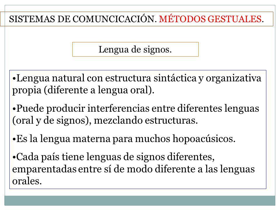 SISTEMAS DE COMUNCICACIÓN. MÉTODOS GESTUALES.