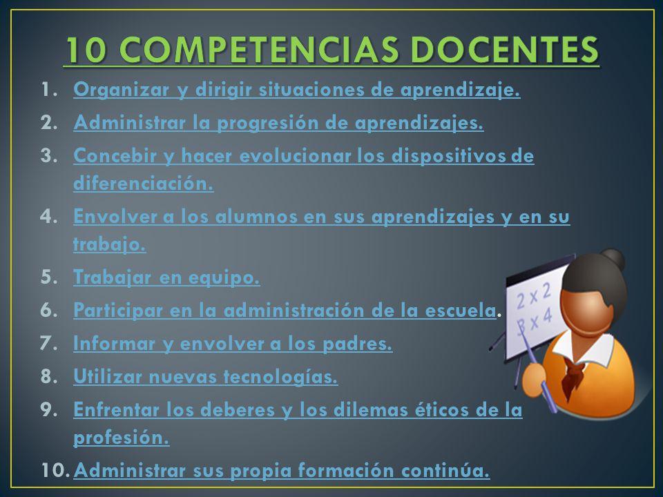 10 COMPETENCIAS DOCENTES