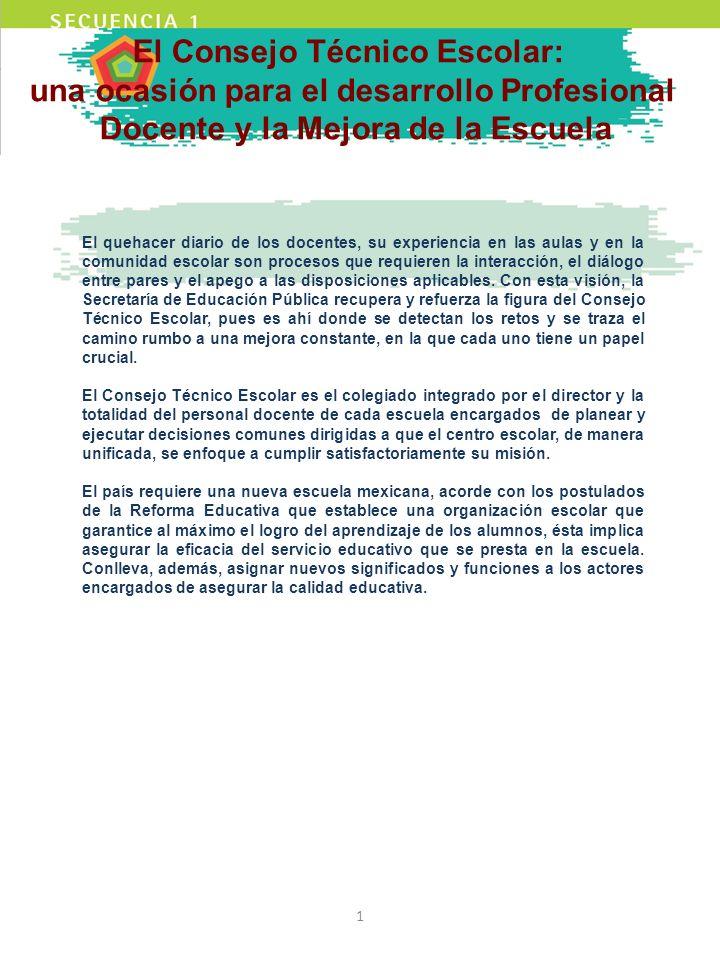 El Consejo Técnico Escolar: una ocasión para el desarrollo Profesional