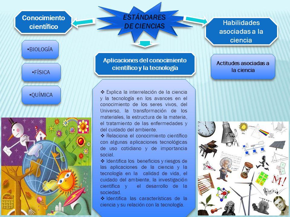 ESTÁNDARES DE CIENCIAS Conocimiento científico