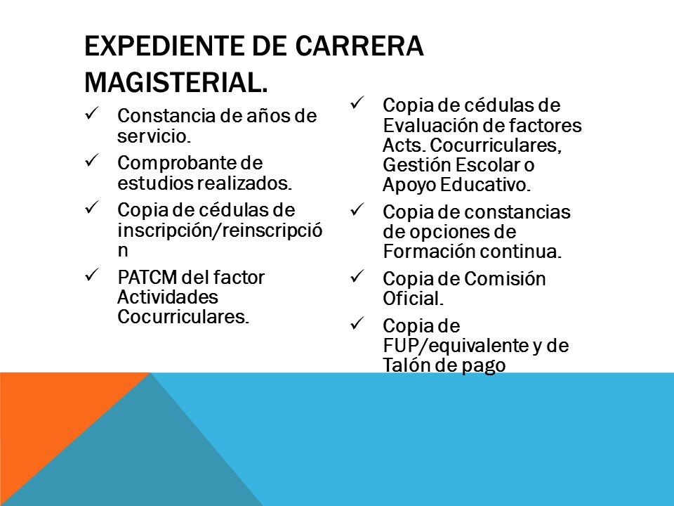 Expediente de Carrera Magisterial.