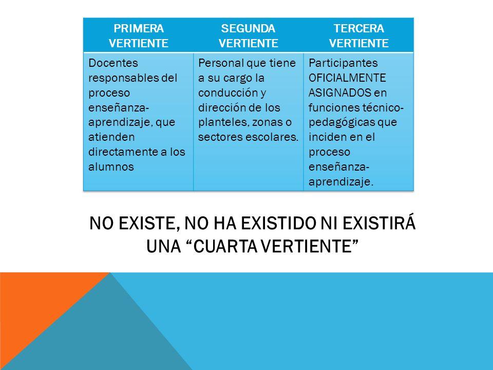 NO EXISTE, NO HA EXISTIDO NI EXISTIRÁ UNA CUARTA VERTIENTE