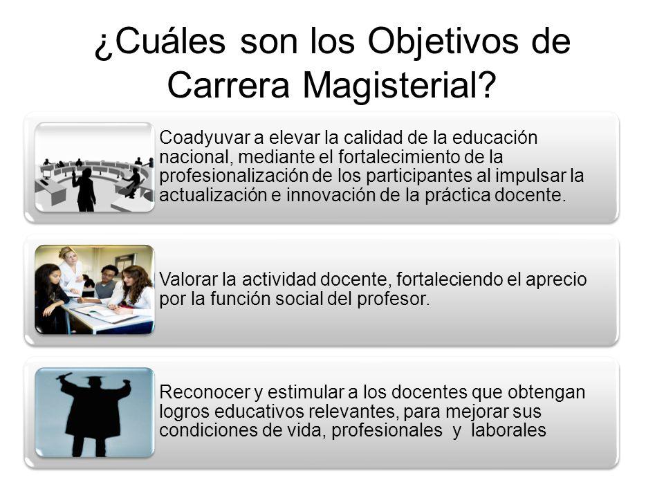 ¿Cuáles son los Objetivos de Carrera Magisterial