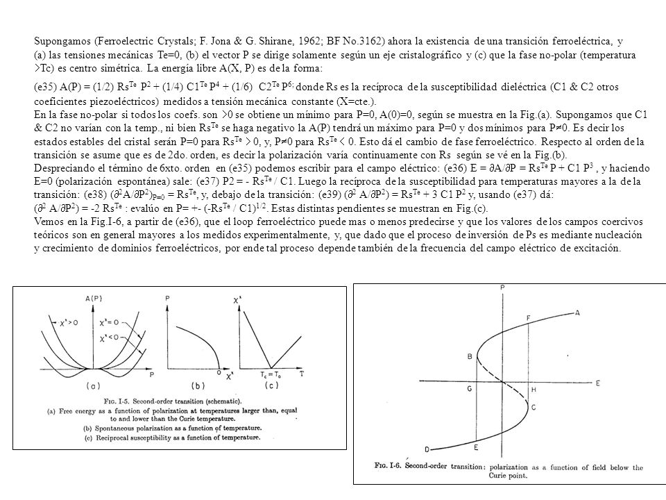 Supongamos (Ferroelectric Crystals; F. Jona & G. Shirane, 1962; BF No
