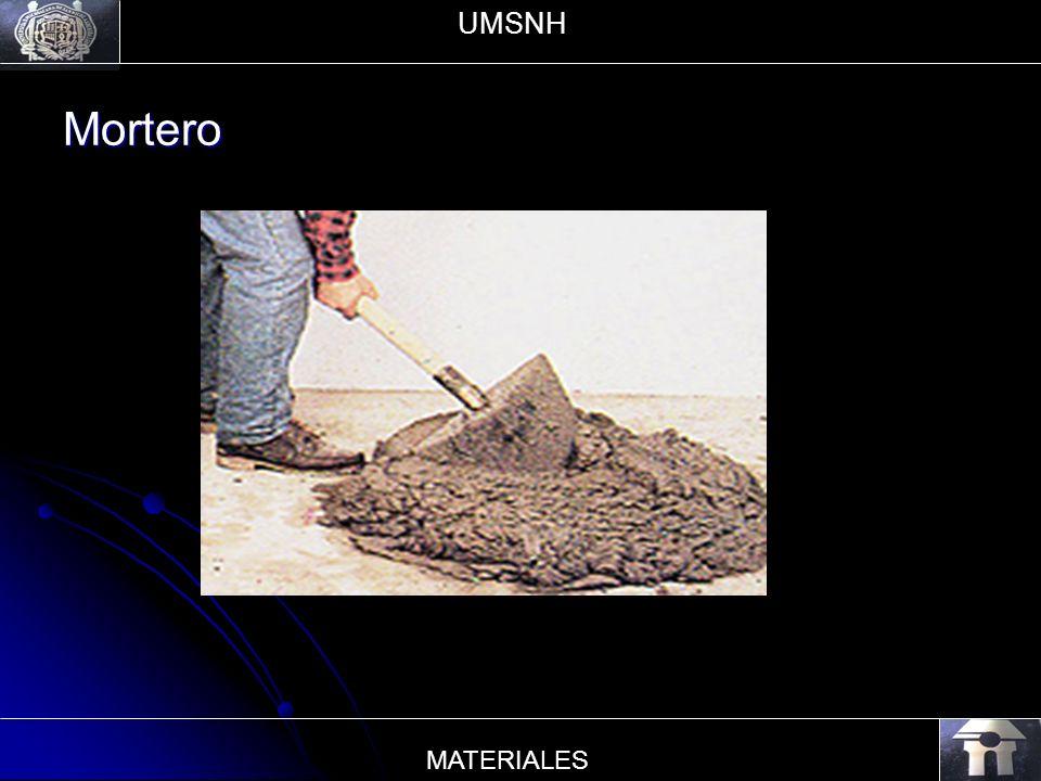 UMSNH Mortero MATERIALES