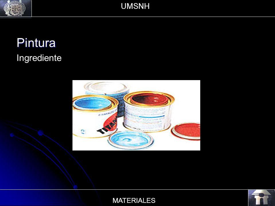 UMSNH Pintura Ingrediente MATERIALES