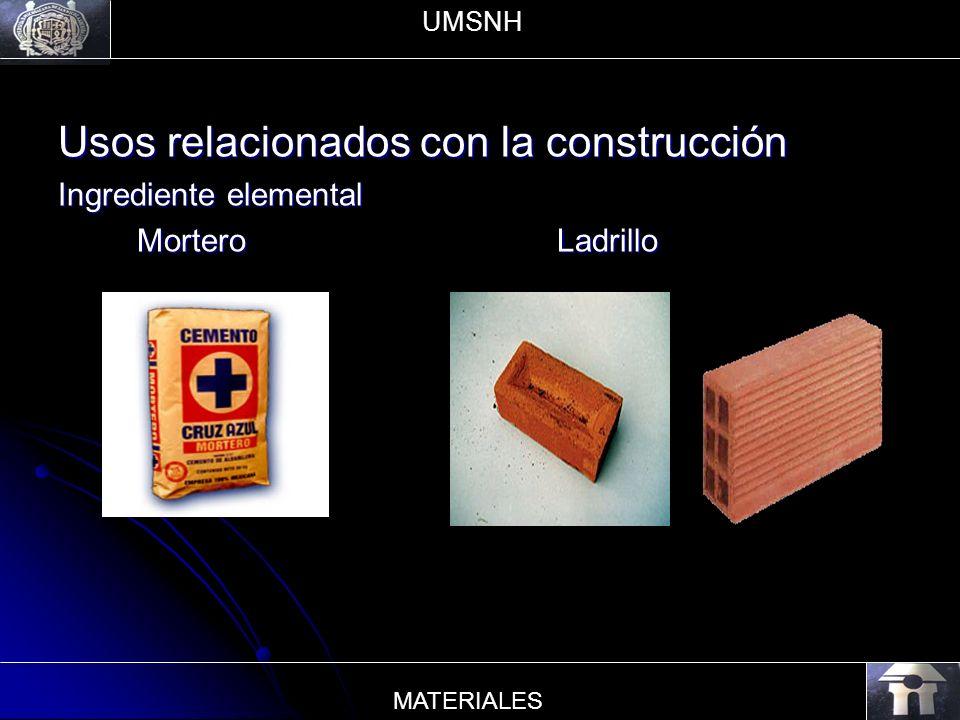 Usos relacionados con la construcción