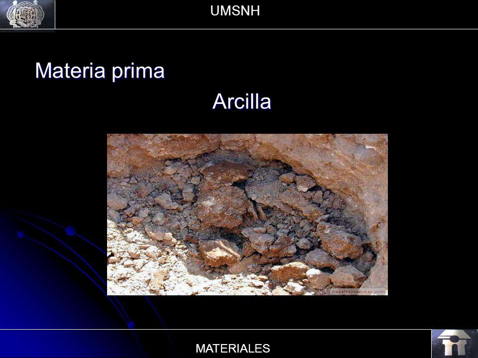 UMSNH Materia prima Arcilla MATERIALES