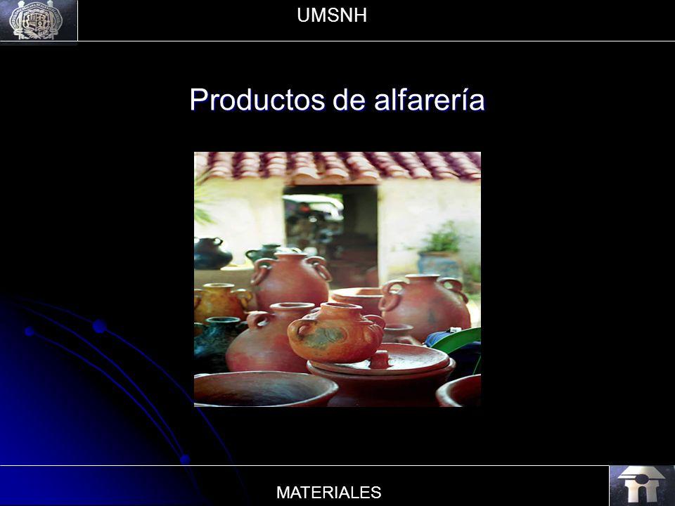 Productos de alfarería