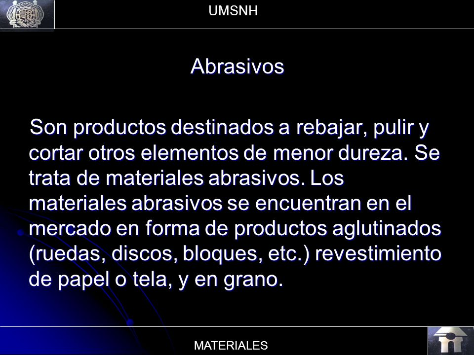 UMSNH Abrasivos.