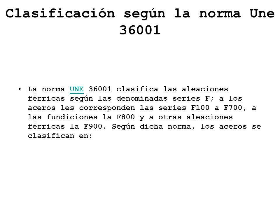 Clasificación según la norma Une 36001