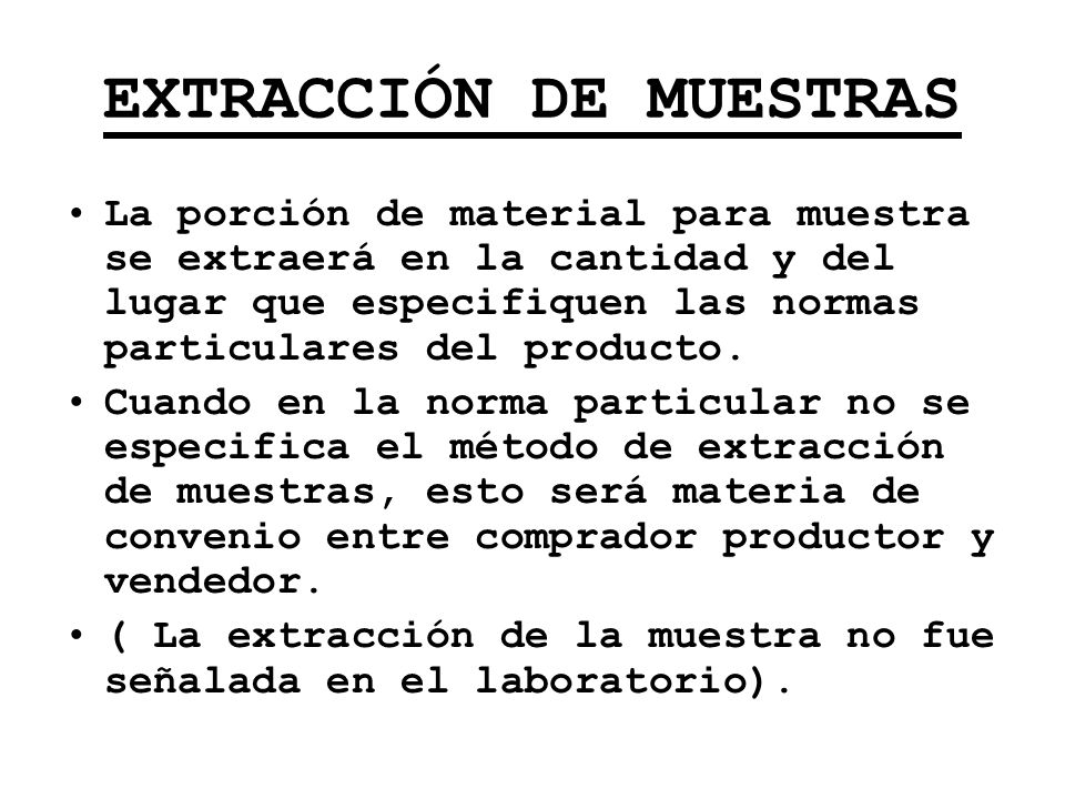 EXTRACCIÓN DE MUESTRAS