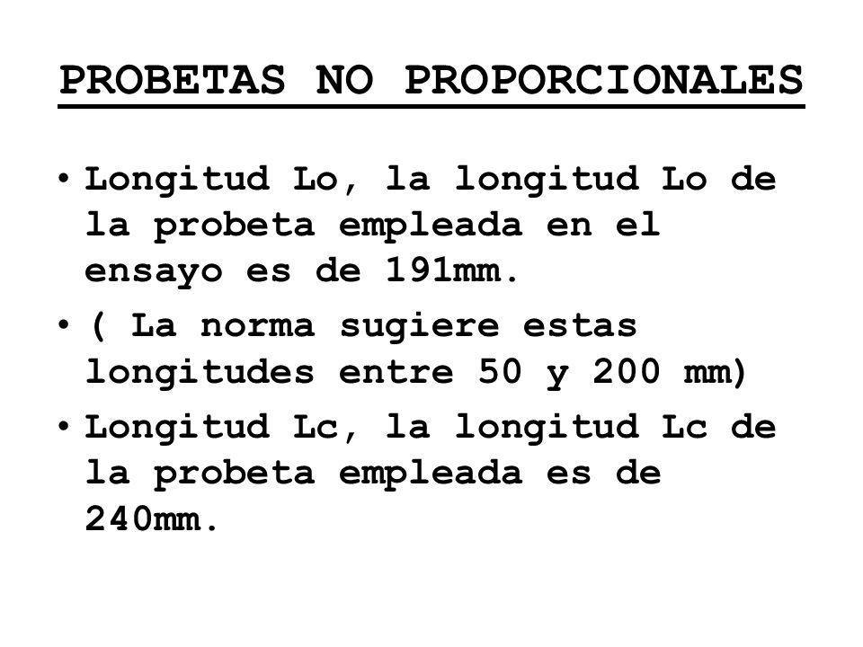 PROBETAS NO PROPORCIONALES