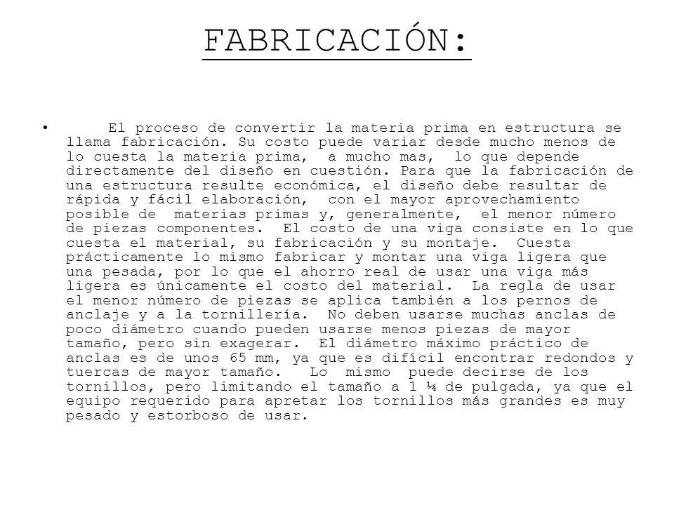 FABRICACIÓN: