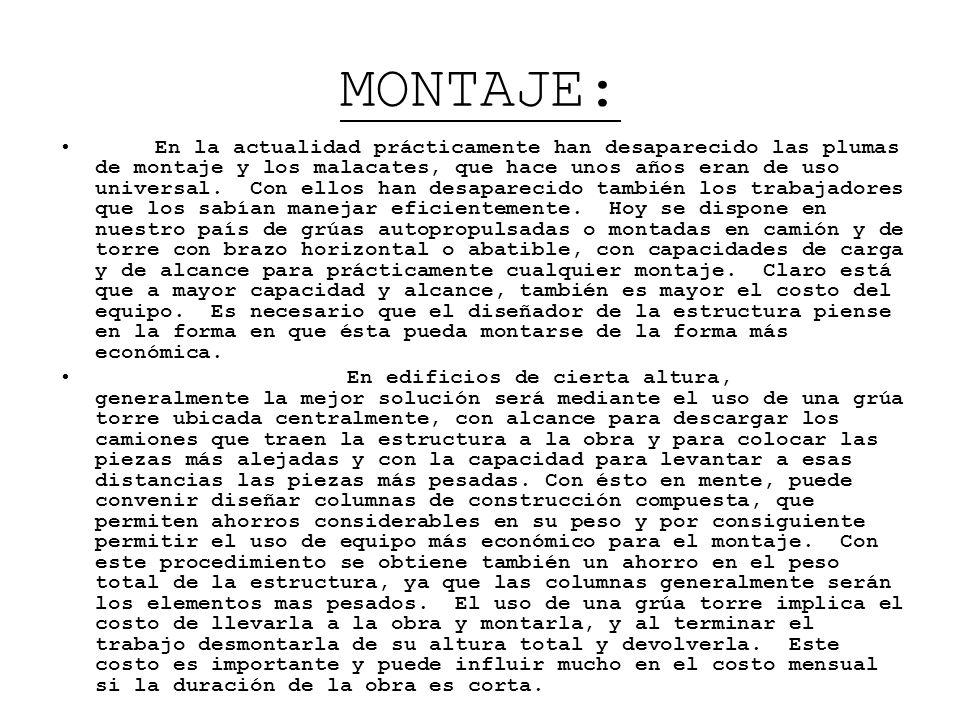 MONTAJE: