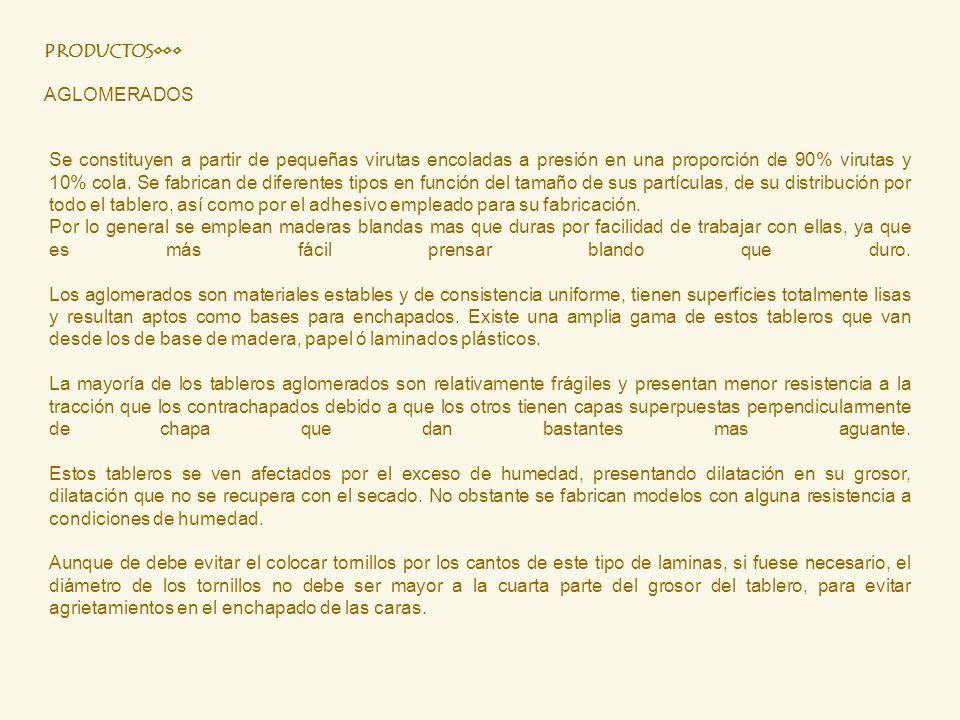 PRODUCTOS••• AGLOMERADOS.