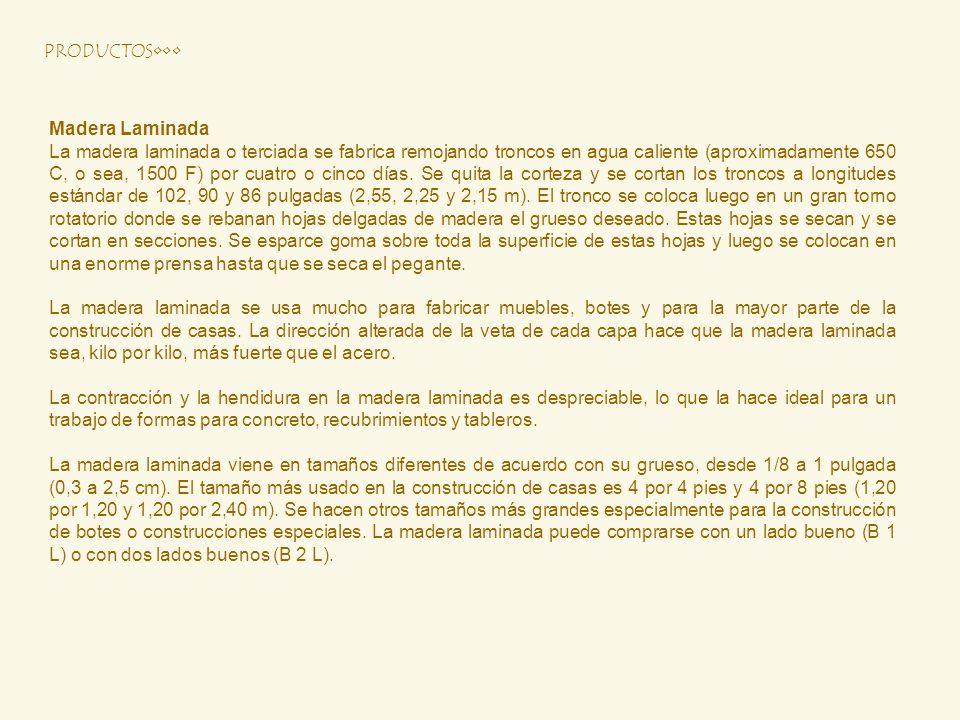 PRODUCTOS•••Madera Laminada.