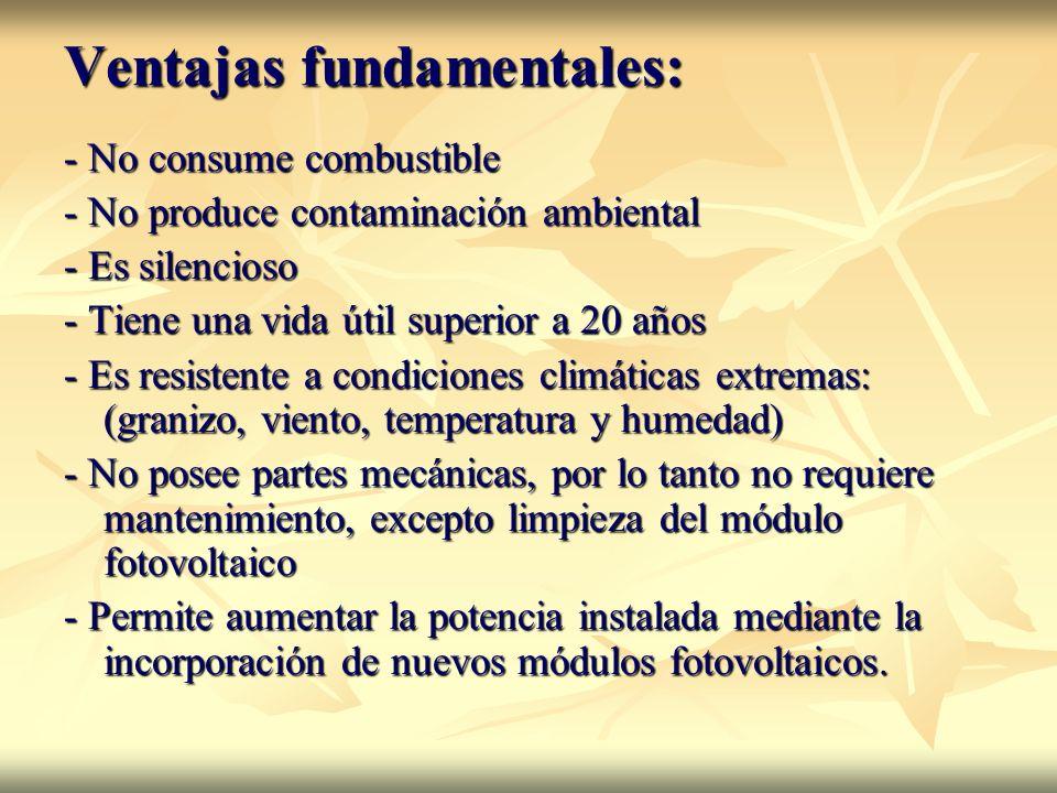 Ventajas fundamentales: