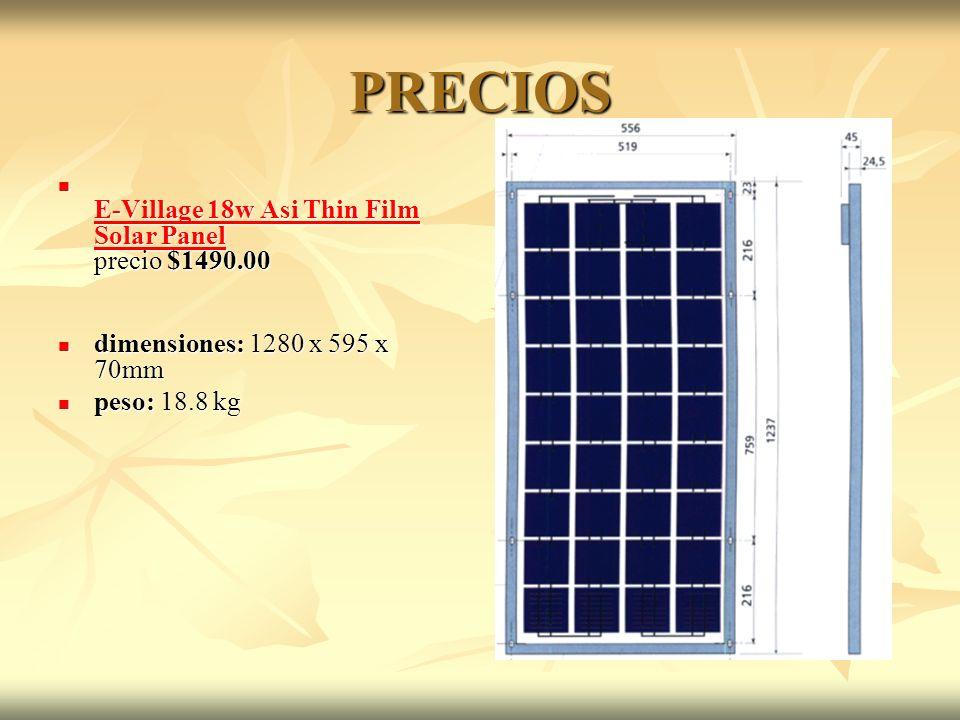 PRECIOS E-Village 18w Asi Thin Film Solar Panel precio $1490.00
