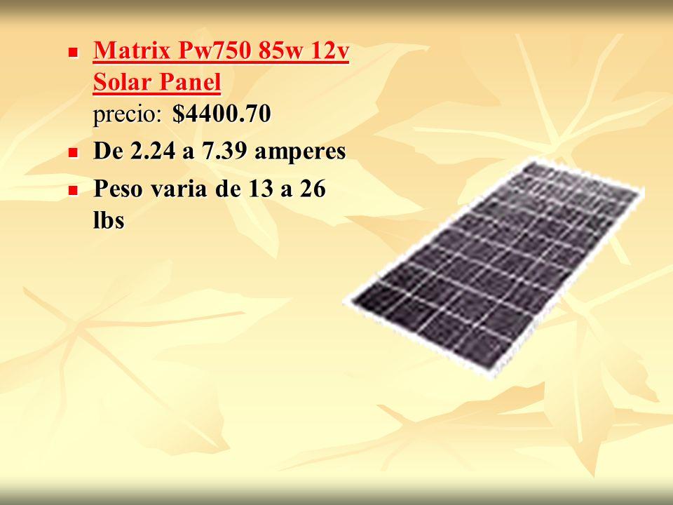 Matrix Pw750 85w 12v Solar Panel precio: $4400.70