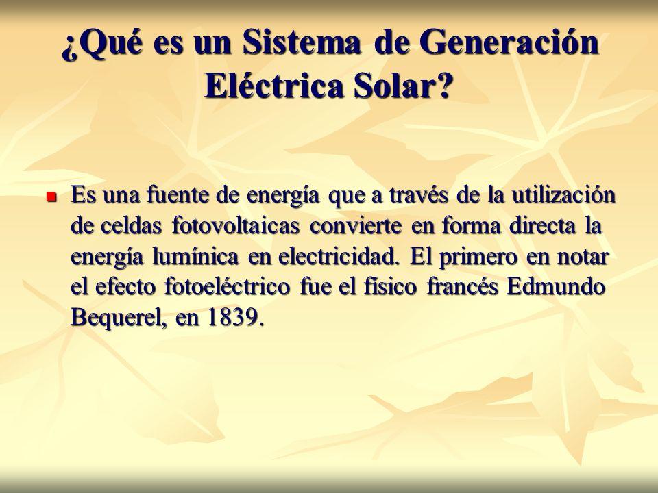 ¿Qué es un Sistema de Generación Eléctrica Solar
