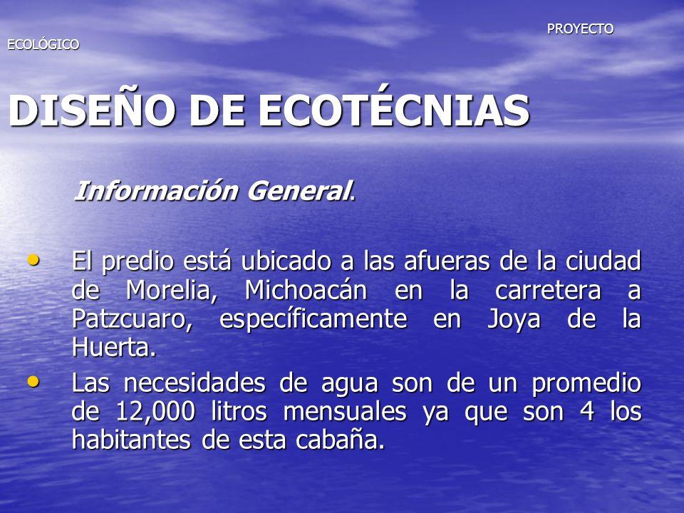PROYECTO ECOLÓGICO DISEÑO DE ECOTÉCNIAS