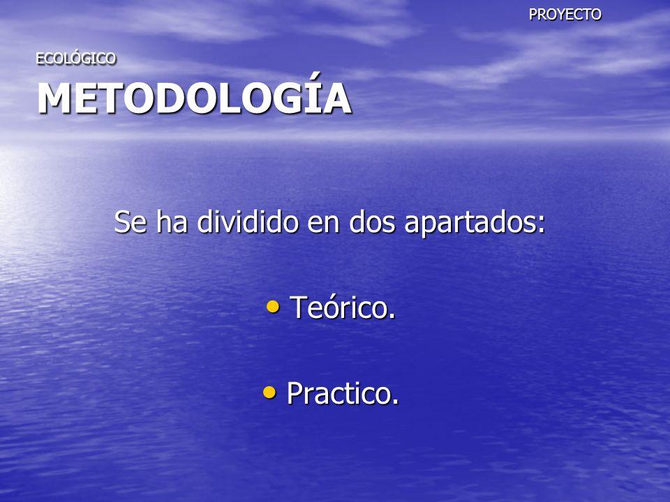 PROYECTO ECOLÓGICO METODOLOGÍA