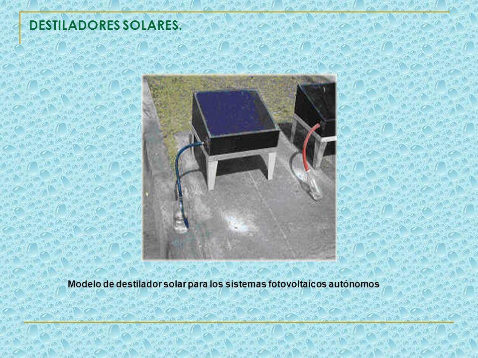 Modelo de destilador solar para los sistemas fotovoltaicos autónomos