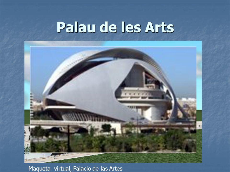 Palau de les Arts Maqueta virtual, Palacio de las Artes