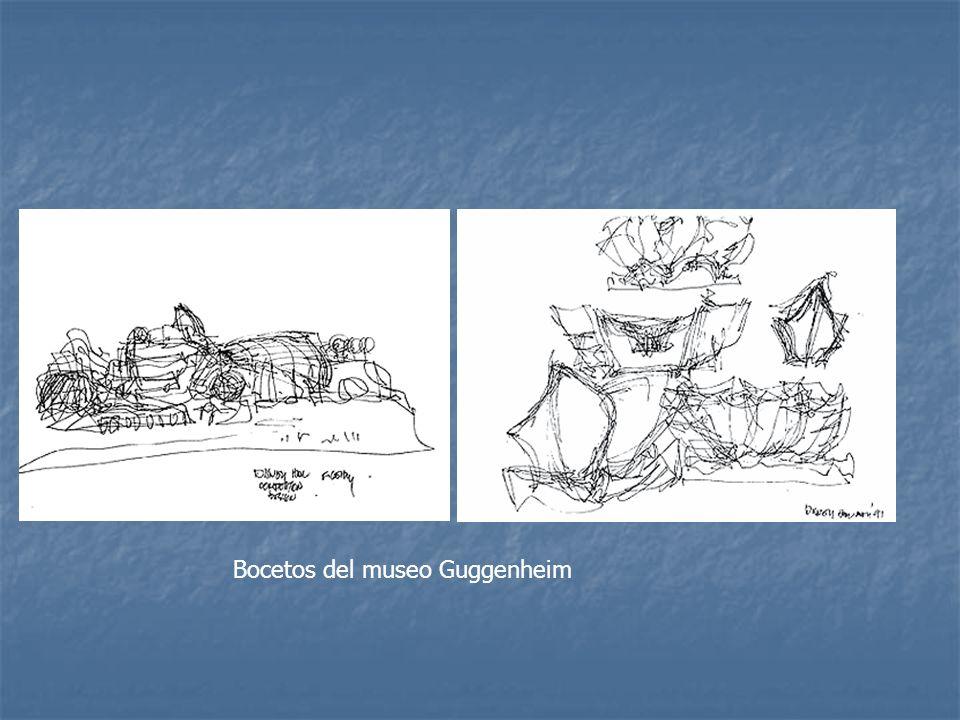 Bocetos del museo Guggenheim