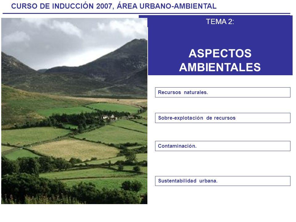 ASPECTOS AMBIENTALES TEMA 2: Recursos naturales.