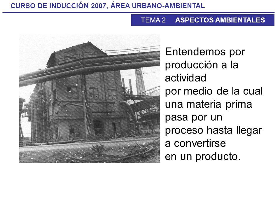 Entendemos por producción a la actividad por medio de la cual una materia prima pasa por un proceso hasta llegar a convertirse en un producto.