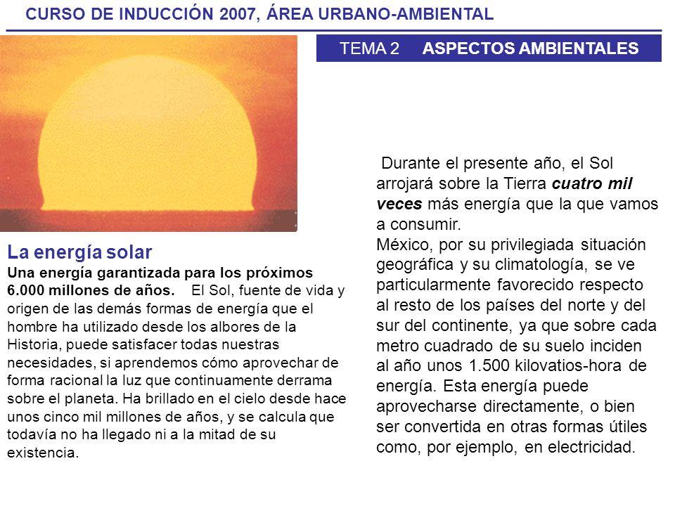 Durante el presente año, el Sol arrojará sobre la Tierra cuatro mil veces más energía que la que vamos a consumir.