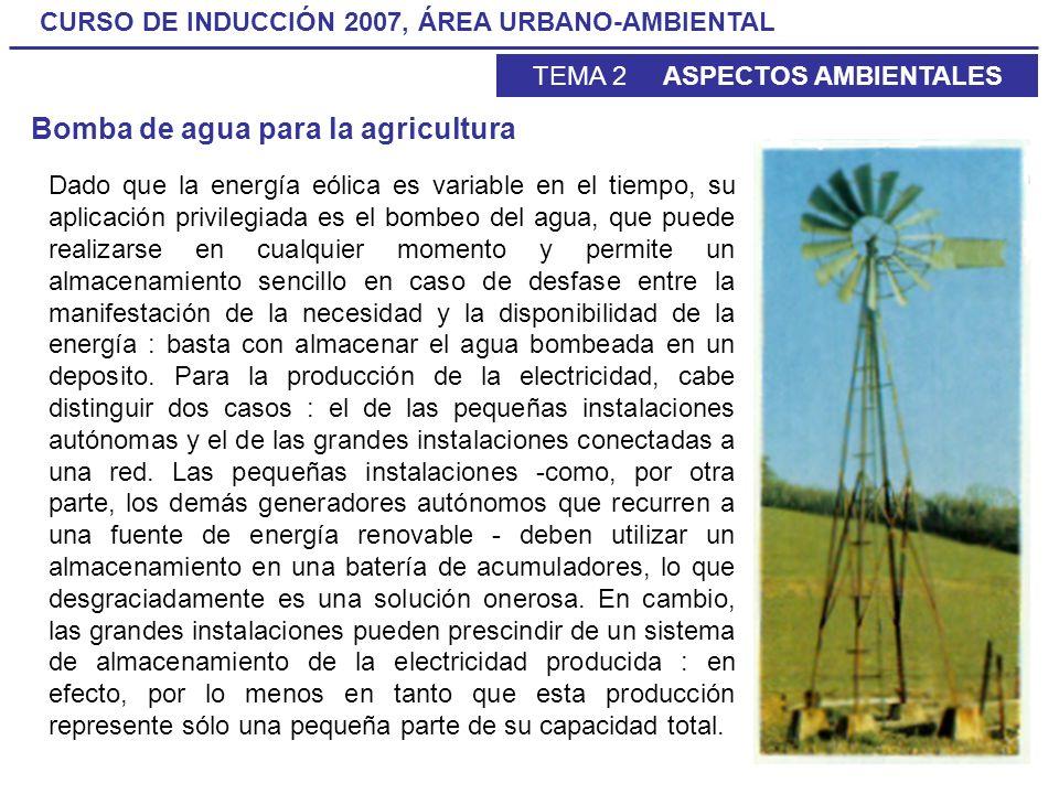 Bomba de agua para la agricultura