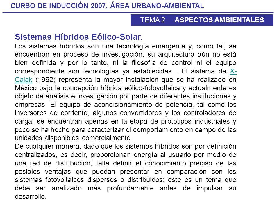 Sistemas Híbridos Eólico-Solar.