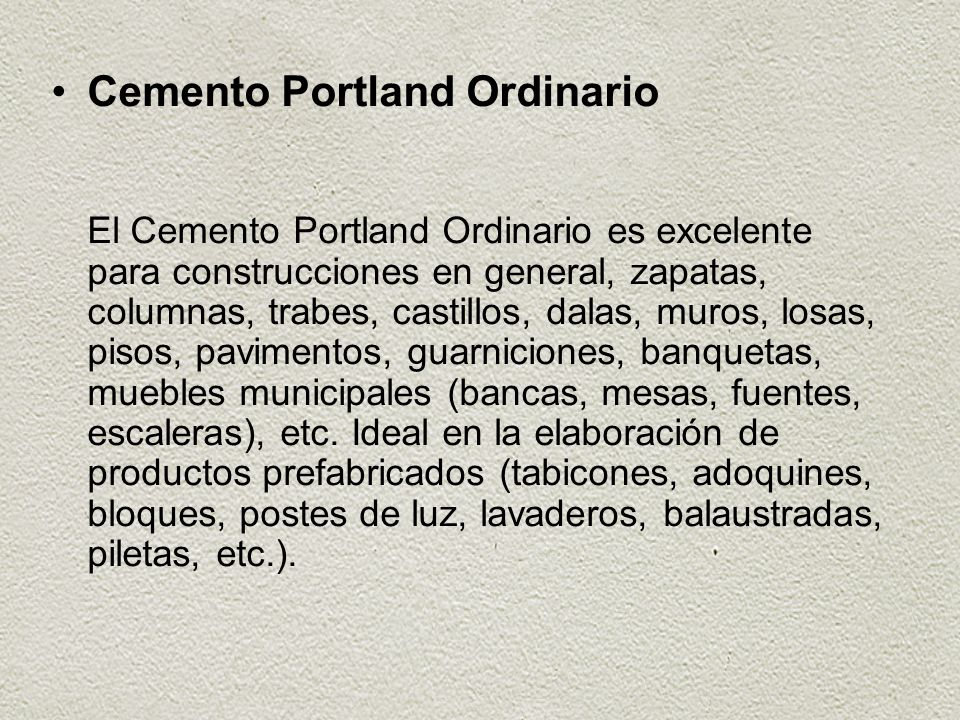 Cemento Portland Ordinario