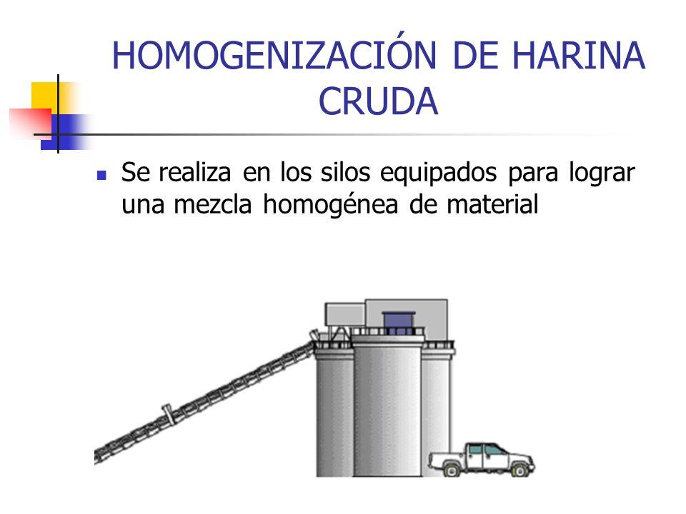 HOMOGENIZACIÓN DE HARINA CRUDA