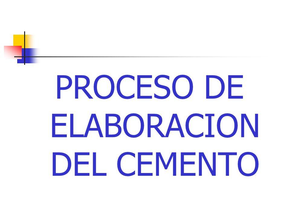 PROCESO DE ELABORACION DEL CEMENTO