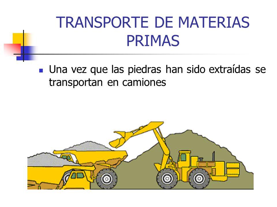 TRANSPORTE DE MATERIAS PRIMAS