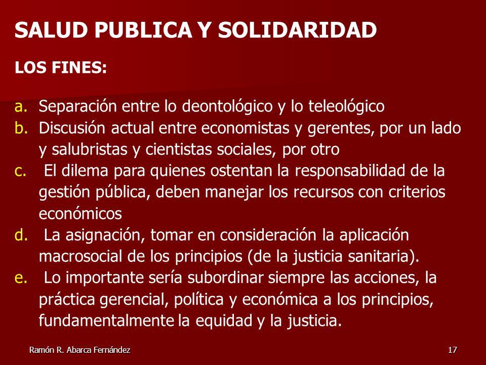 SALUD PUBLICA Y SOLIDARIDAD
