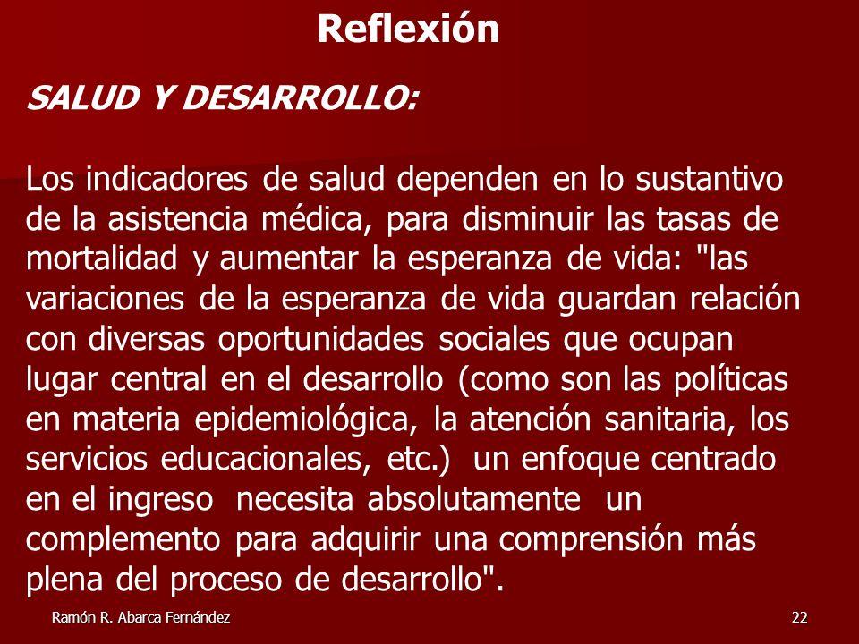 Reflexión SALUD Y DESARROLLO: